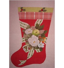 Point of it All Christmas Rose Stocking<br />