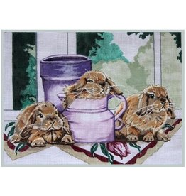 Julie Mar Bunnies at Windowsill<br />