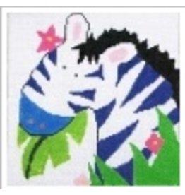 Jean Smith Designs Zebra<br />4&quot; Square