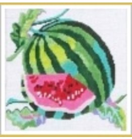 "Jean Smith Designs Watermelon coaster 4"" Square"