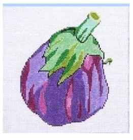 "Jean Smith Designs Eggplant coaster 4"" Square"