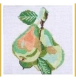 "Jean Smith Designs Green Pears coaster 4"" Square"