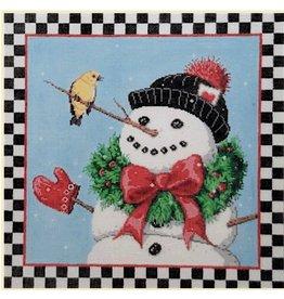 Fleur de Paris Hello from Mr. Snowman<br />12&quot;x12&quot;