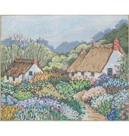 Fleur de Paris Careen&#039;s Cottage - Vintage Blue<br />9&quot; x 11&quot;
