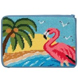 Alice Peterson Flamingo Cosmetic Case/Purse