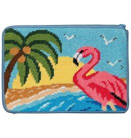 Alice Peterson Flamingo Cosmetic Case/Purse