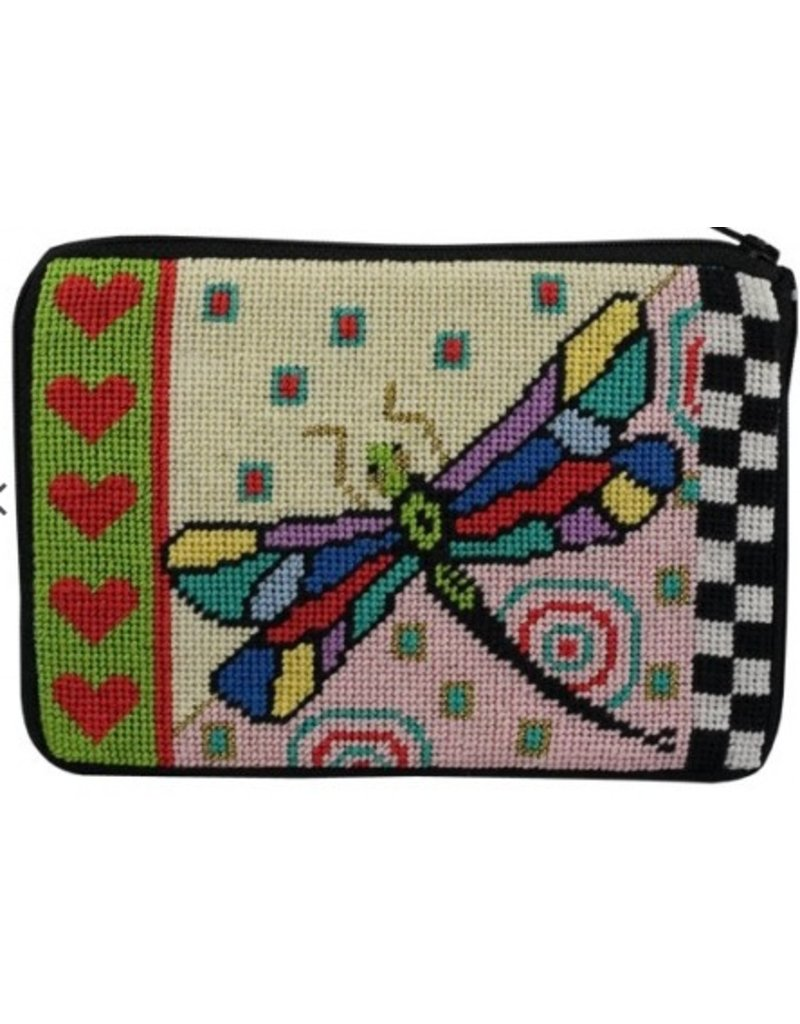 Alice Peterson Dragonfly Cosmetic Purse