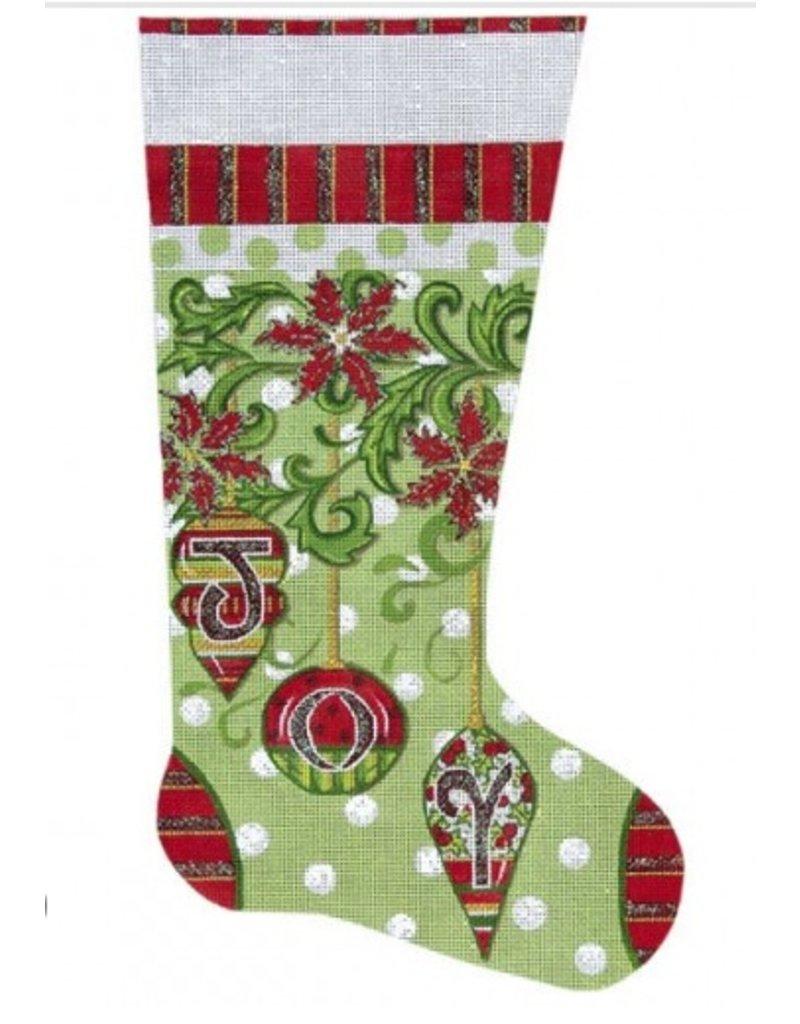Alice Peterson &quot;Joy&quot; Christmas Stocking<br />11&quot; x 19&quot;