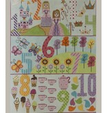Alice Peterson Girls - 1 - 10 Numbers<br />12&quot; x 16&quot;