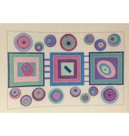 BB Needlepoint Design Circles &amp; Squares Geometric<br />