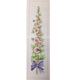 Fleur de Paris Hollyhock Bellpull<br />10&quot; x 41&quot;