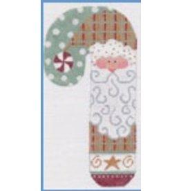 """Danji Peppermint Santa  Candy Cane  ornament  3"""" x 6.5"""""""