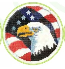 Colonial Needle Bald Eagle w/Flag -<br />