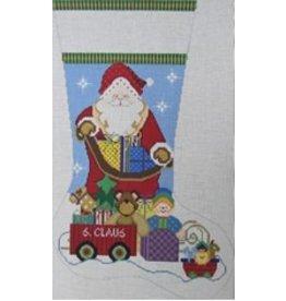 NeedleDeeva Santa &amp; the Toys Stocking<br />12&quot; x 19&quot;