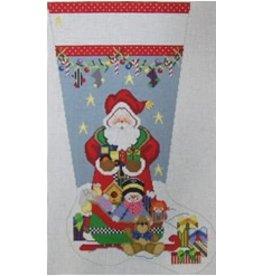 NeedleDeeva Santa &amp; the Sleigh Stocking<br />14&quot; x 22&quot;