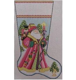 NeedleDeeva Santa Delivers Pink Stocking<br />14&quot; x 22&quot;