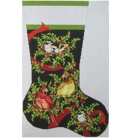 NeedleDeeva Birds and Holly Stocking<br />