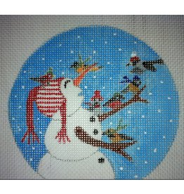 BB Needlepoint Design Frosty w/birds ornament<br />