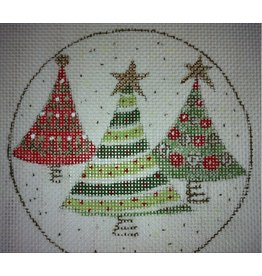 BB Needlepoint Design Stripe Tree ornament