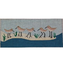 "BB Needlepoint Design Shorebirds wallet/checkbook insert 6"" x 2.5"""