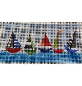 BB Needlepoint Design Sailboats - wallet/checkbook<br />