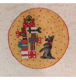 BB Needlepoint Design Scottie ornament<br />