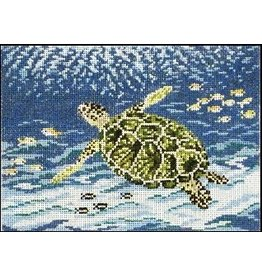 Needle Crossing Sea Turtle<br />