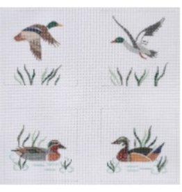 """Kate Dickerson Coasters - wild ducks - set of 4"""" 4"""" x 4"""""""