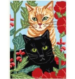 Pajamas &amp; Chocolate Black &amp; Orange Cats<br />11&quot; x 8&quot;