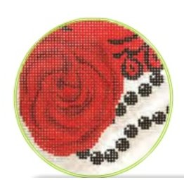 Colonial Needle Scarlet Rose<br />3&quot; Round