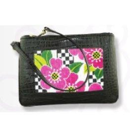 Colonial Needle Wrist Bag - Black<br />7.5&quot; x 5&quot;