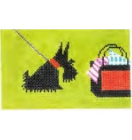 Colonial Needle Scottie with Bag<br />