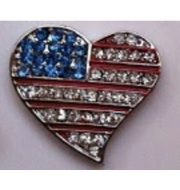 Accoutrement Designs Flag Heart - Magnet