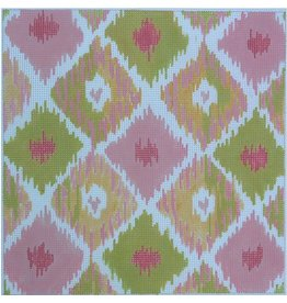 Kate Dickerson Ikat square - pink, yellow &amp; green<br />