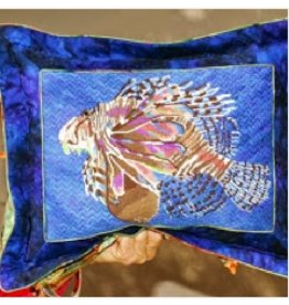 Waterweave Lionfish w/Blue background<br />