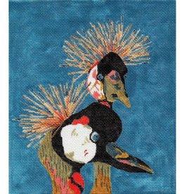 Waterweave Cranes<br />7&quot; x 8&quot;