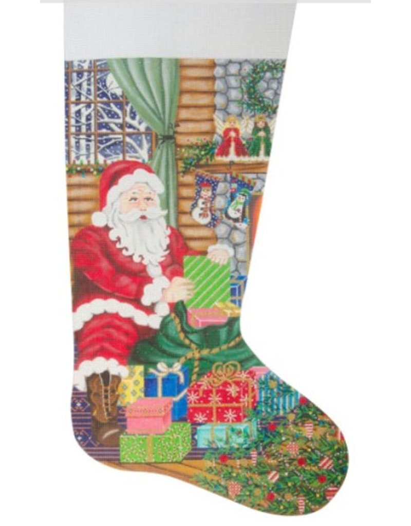 Alice Peterson Santa&#039;s Delivery Stocking<br />11&quot; x 20