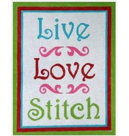 Hilary Jeans Live Love Stitch<br />11.5&quot; x 9.5&quot;