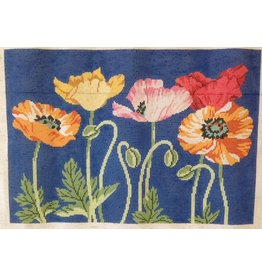 Lee Poppies with blue background<br />