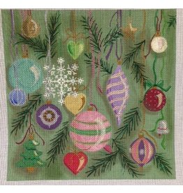 Winnetka Christmas Ornaments Pillow<br />