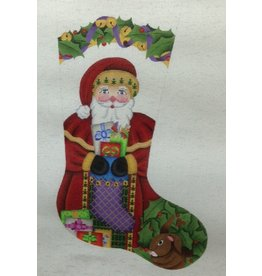 A Collection of Designs Santa w/presents Stocking