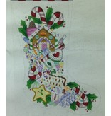 A Collection of Designs Christmas Candy ~ Gingerbread House - Stocking