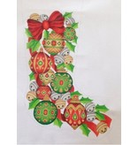A Collection of Designs Red Bow - Jeweled Ornaments - Holly Stocking