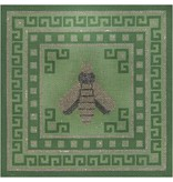 A Collection of Designs Bee &amp; Greek Key on Green<br />10&quot; x 10&quot;