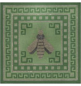 A Collection of Designs Bee &amp; Greek Key on Green<br />