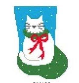 Kathy Schenkel Cat Mini Sock<br />4&quot; x 5.5&quot;