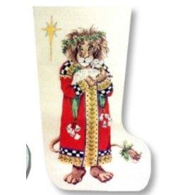 CBK Needlepoint King Lion stocking<br />20&quot; long