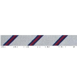Elizabeth Turner Diagonal Stripe Belt (3-2-3) Gray/Navy/Red