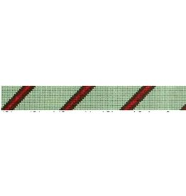 Elizabeth Turner Diagonal Stripe Belt (3-2-3) Sage/Brown/Red