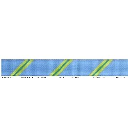 Elizabeth Turner Diagonal Stripe Belt (3-2-3) Periwinkle/Lime/Teal